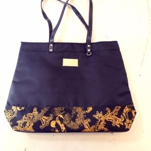 Authentic Versace Parfums Tote & Cosmetic Bag